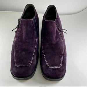 Donald Pliner Audra Purple Suede Loafer Side ZIP